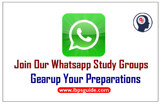 Join Our Whatsapp Study Groups for Bank PO & Clerk Exams