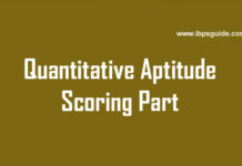 quantitative aptitude test scoring part tricks online