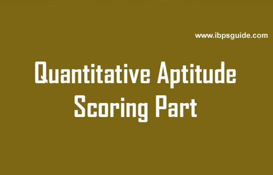 quantitative aptitude test scoring part tricks online