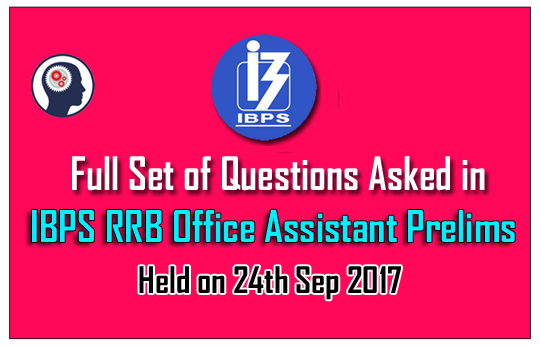 ibps rrb office assistant full set of prelims questions Police Exam Study Guide Sat Study Guide