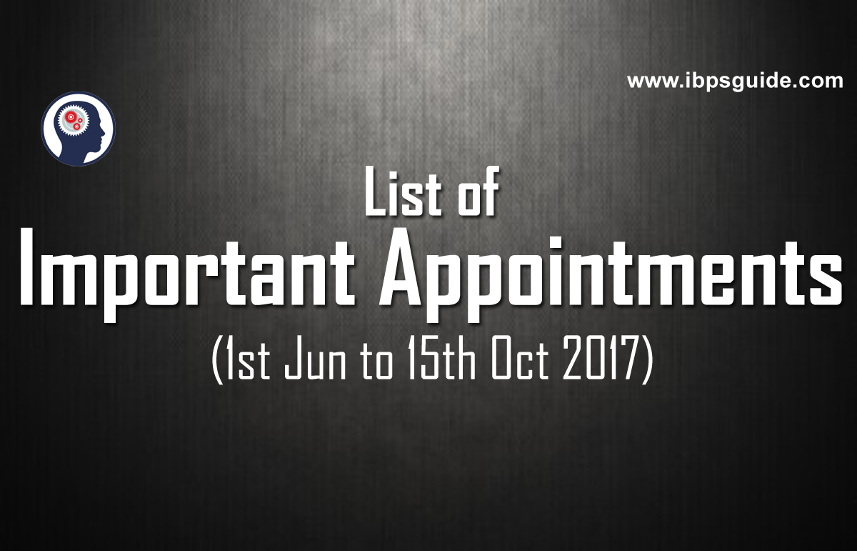 new appointments in india 2017 pdf download