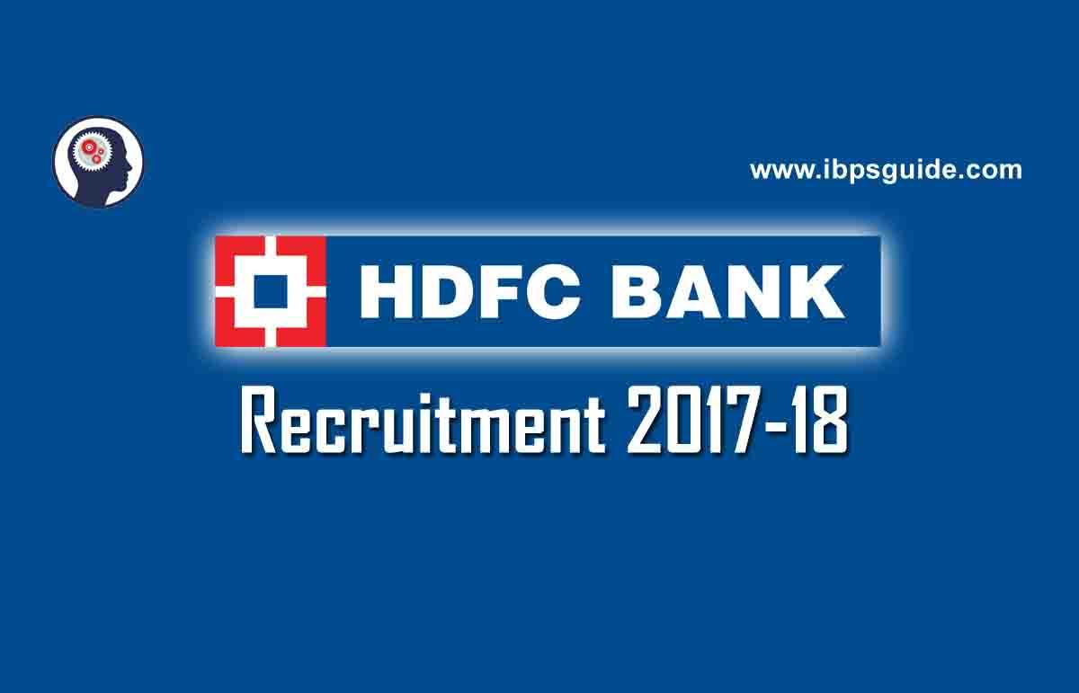 Hdfc Bank Recruitment Hdfc Careers Latest Jobs 2017