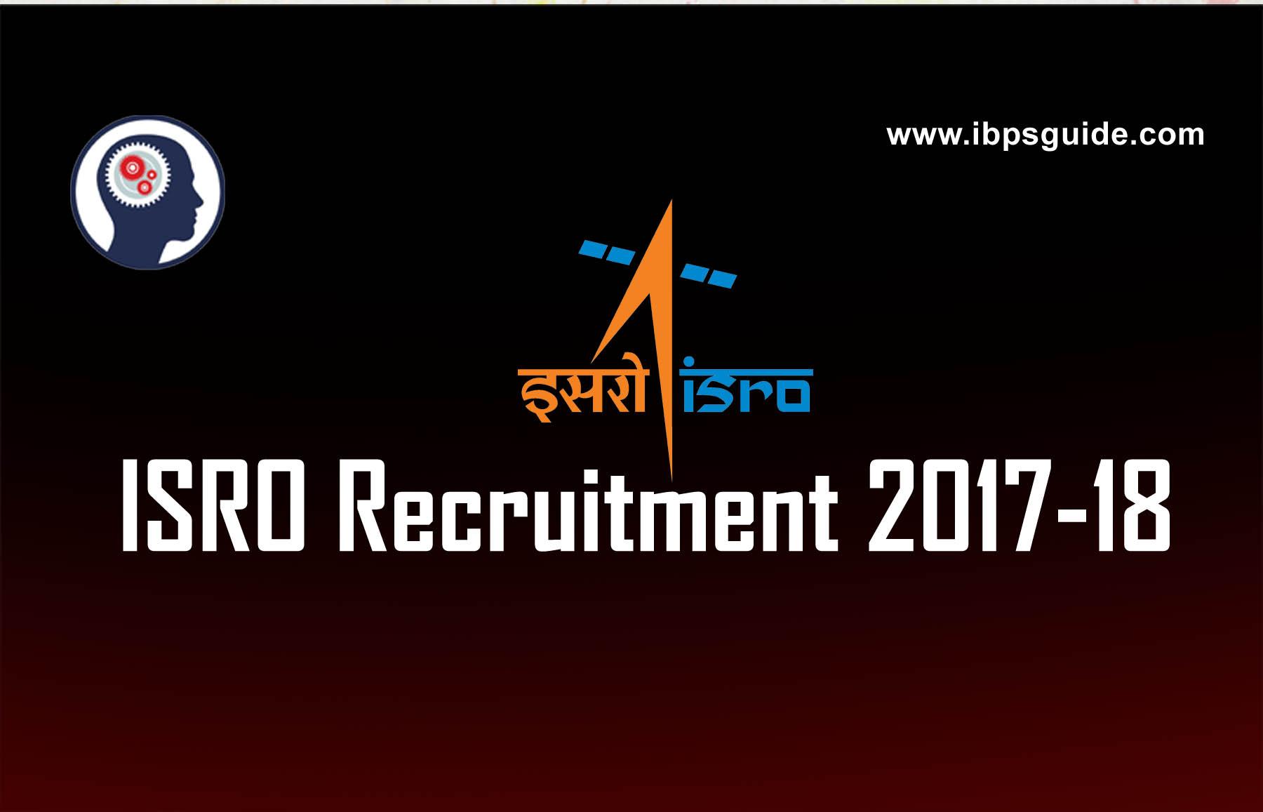 ISRO Recruitment 2018 |Apply for various vacancies