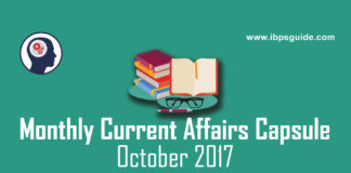 Monthly Current Affairs 2017