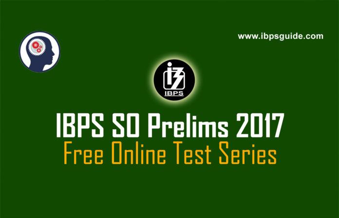 IBPS SO Prelims