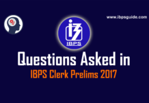 Questions asked in IBPS Clerk