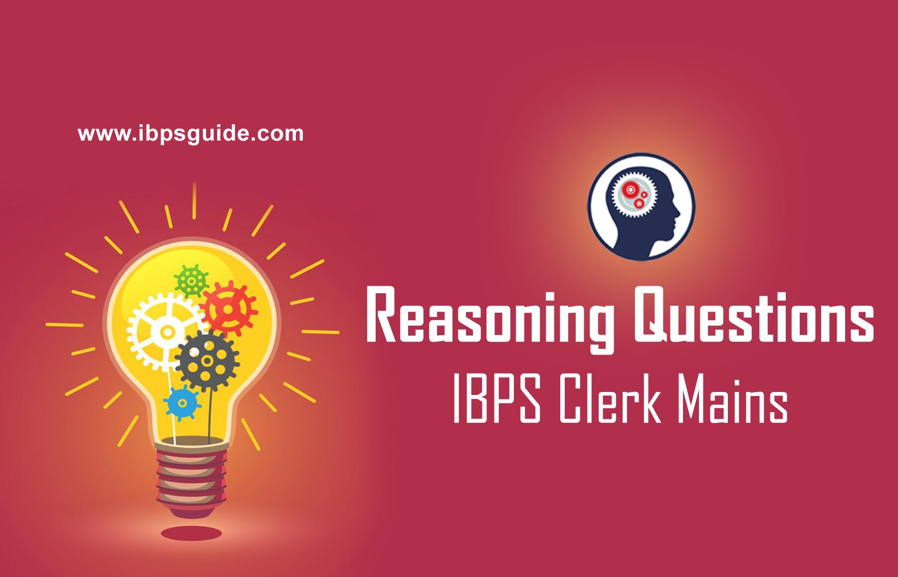 Crack IBPS Clerk Mains–Reasoning Puzzle quiz