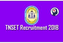 TNSET Recruitment