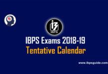 IBPS tentative calendar