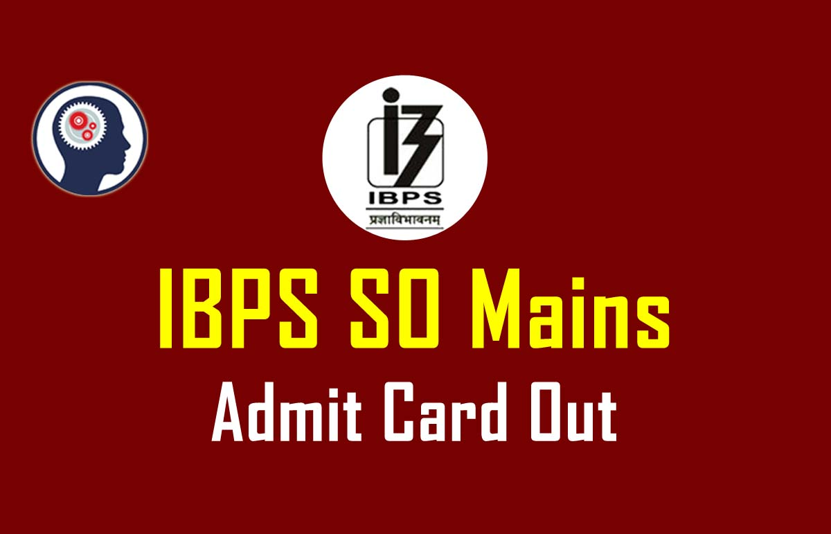 ibps so admit card out  mains   download your ibps so Police Study Guide Sat Study Guide