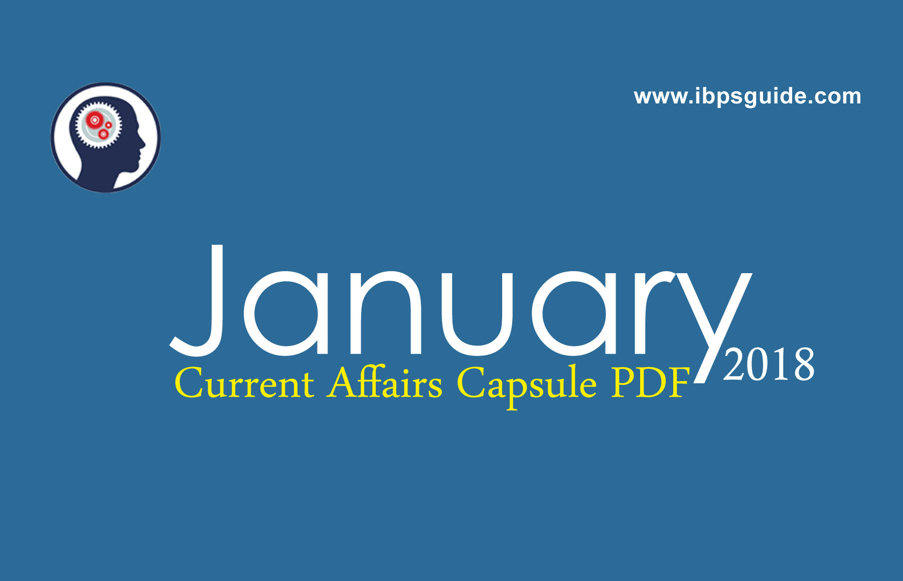 Monthly Current Affairs PDF January 2018 Free Download
