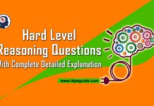 Reasoning Questions and answers