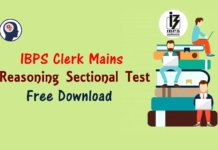 Reasoning Sectional Test