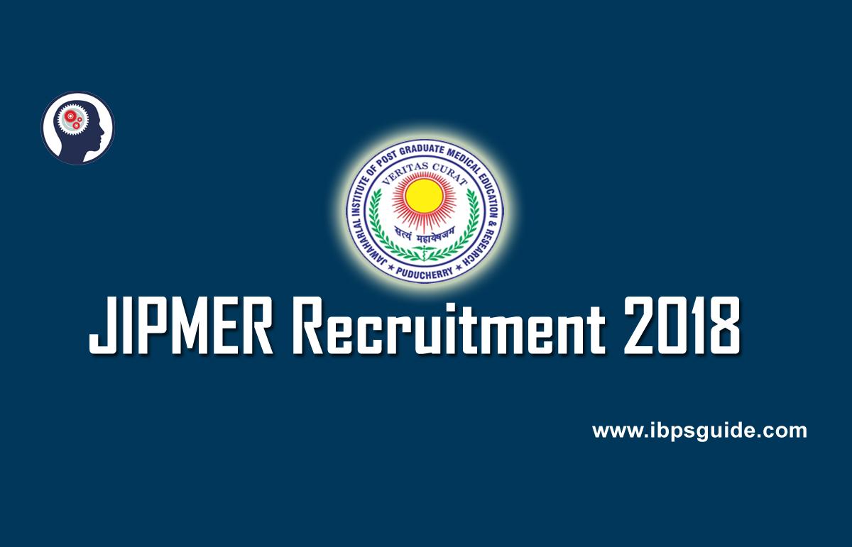 JIPMER Recruitment 2018 | Apply for JIPMER Senior Resident