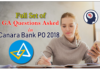 GA Questions Asked in Canara Bank PO