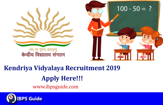 KVS Recruitment 2019: Direct Interview For KVS Vacancy