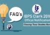 ibps clerk 2018 faq's
