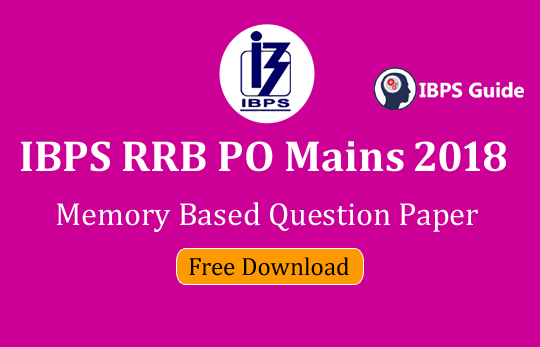 Ibps rrb po mains 2018 question paper popular term paper writing for hire for phd