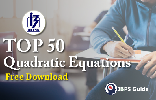 TOP 50 Quadratic Equations PDF: Free PDF Download