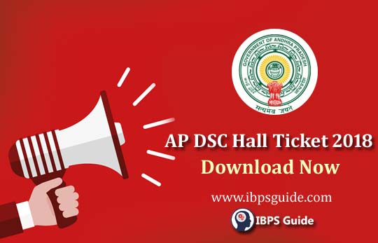 AP DSC Hall Ticket Download 2018: Direct Link is Here