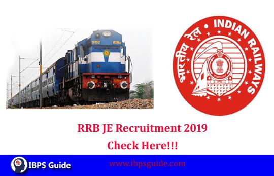 RRB JE Recruitment 2019: Admit card, Notification PDF, Exam Dates