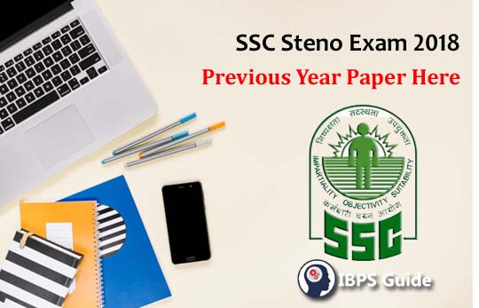 SSC Steno Previous Year Paper with Answer Key PDF Here