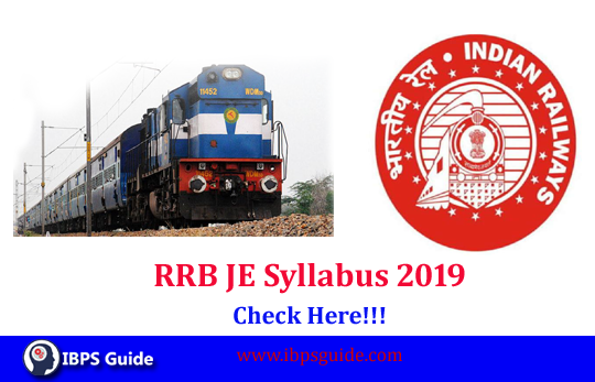 RRB JE Syllabus 2018-19: Check Here