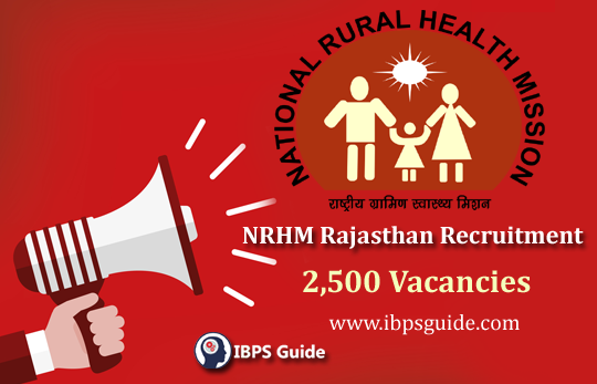NRHM Rajasthan Recruitment 2019: 2500 CHO Vacancies   Link Activated