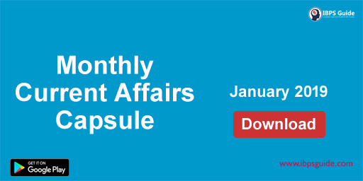 Monthly GK and Current Affairs Capsule January 2019 (Hindi & English