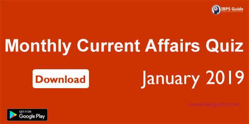Monthly Current Affairs Questions January 2019 (Hindi