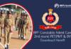 RPF Constable Admit Card 2019