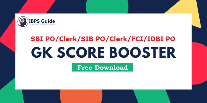 GK Score Booster - 2100+ GK Questions for SBI/SIB/FCI/IDBI