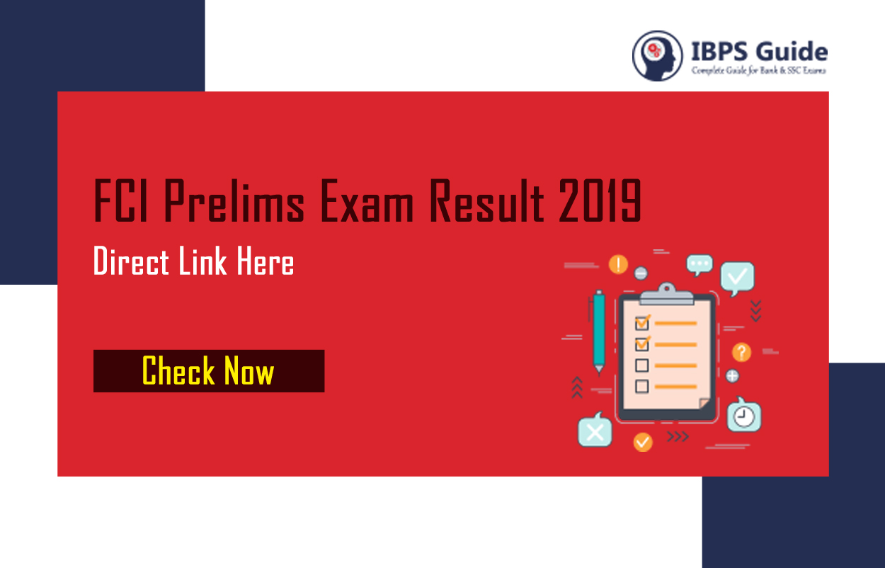 FCI Prelims Result 2019: Check Result Status Of Food