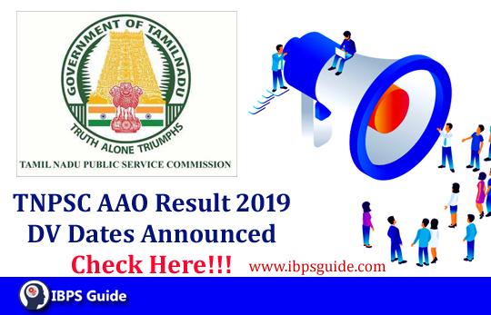 TNPSC Assistant Agriculture Officer Result 2019: TNPSC AAO DV Dates