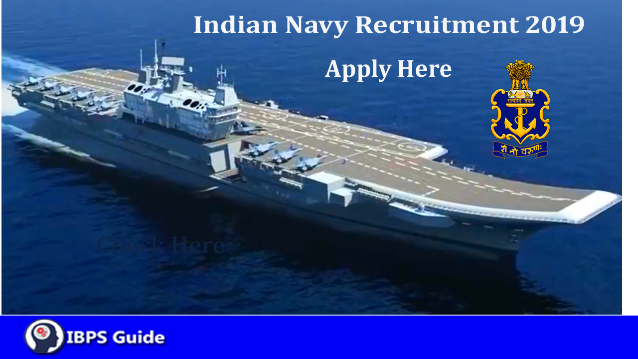 Indian Navy Recruitment 2019 | 104 Civilian Motor Driver