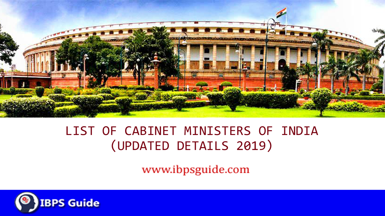 Cabinet Ministers of India 2019 PDF | Cabinet Minister of