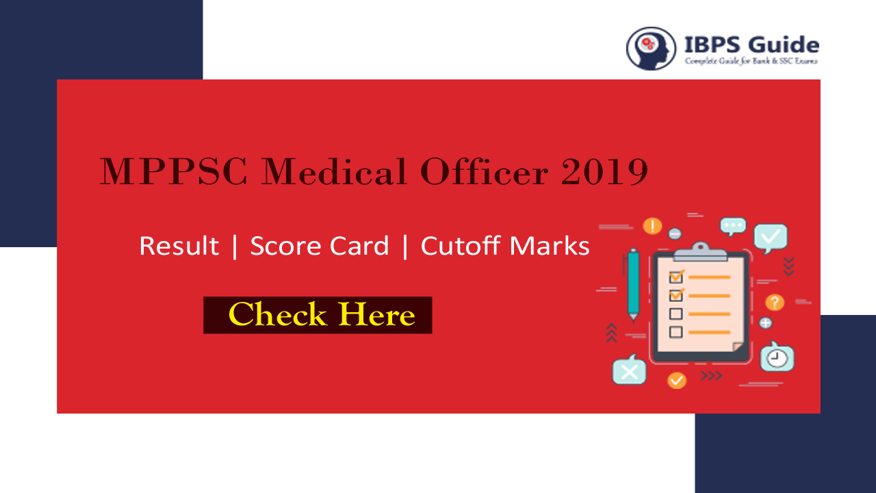 MPPSC Medical Officer Interview Result 2019 | Cutoff Marks Score Card