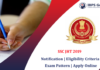 SSC JHT 2019 Notification