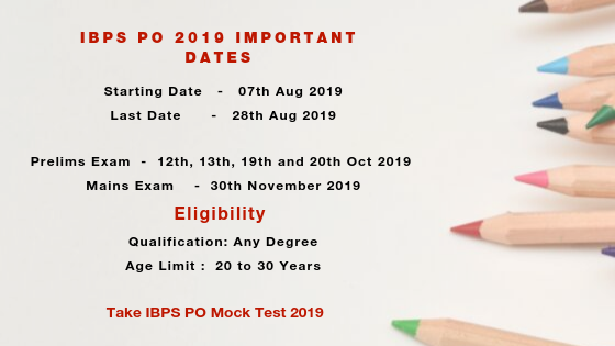 IBPS PO 2019 Notification PDF - Apply Online, Registration, Syllabus