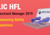 LIC HFL Assistant Manager Reasoning Ability Questions - (Day-06)