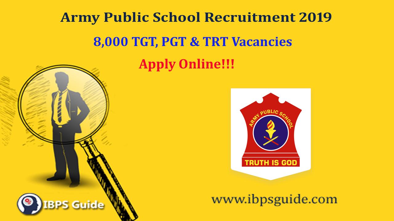 Army Public School Recruitment 2019: Army Public School