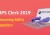 IBPS Clerk Prelims Reasoning Questions 2019 - (Day-4)