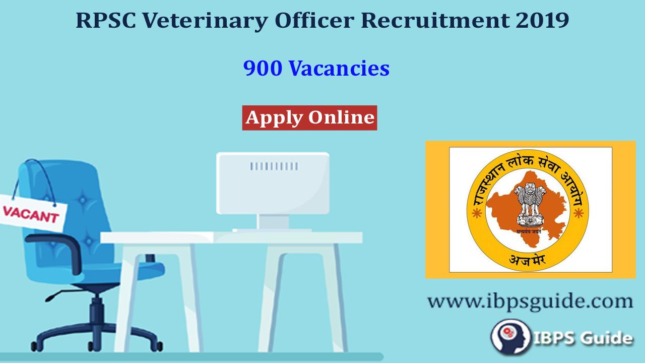 RPSC Veterinary Officer Recruitment 2019 | Veterinary