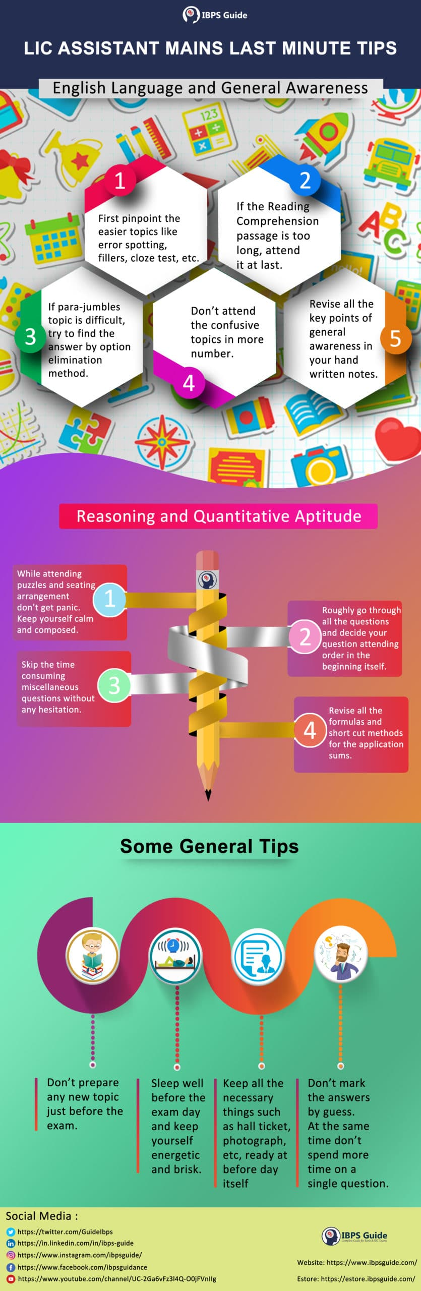 LIC Assistant Mains Last Minute Tips - Infographic: Check Here