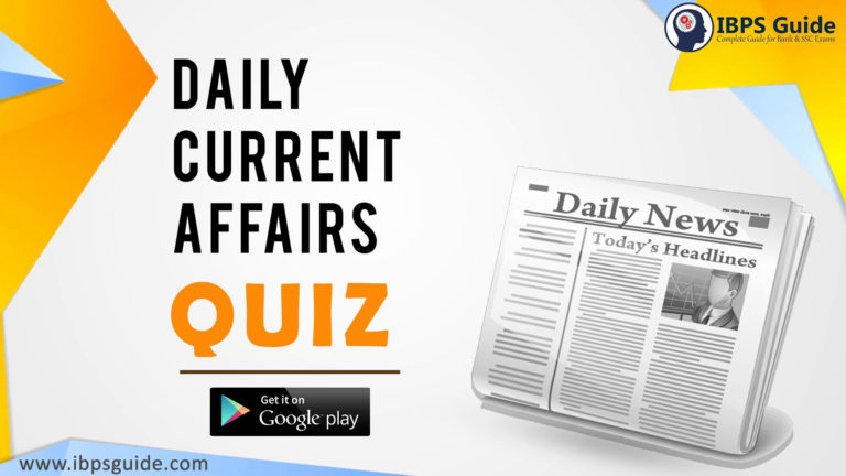 Daily Current Affairs Quiz -21st April 2021