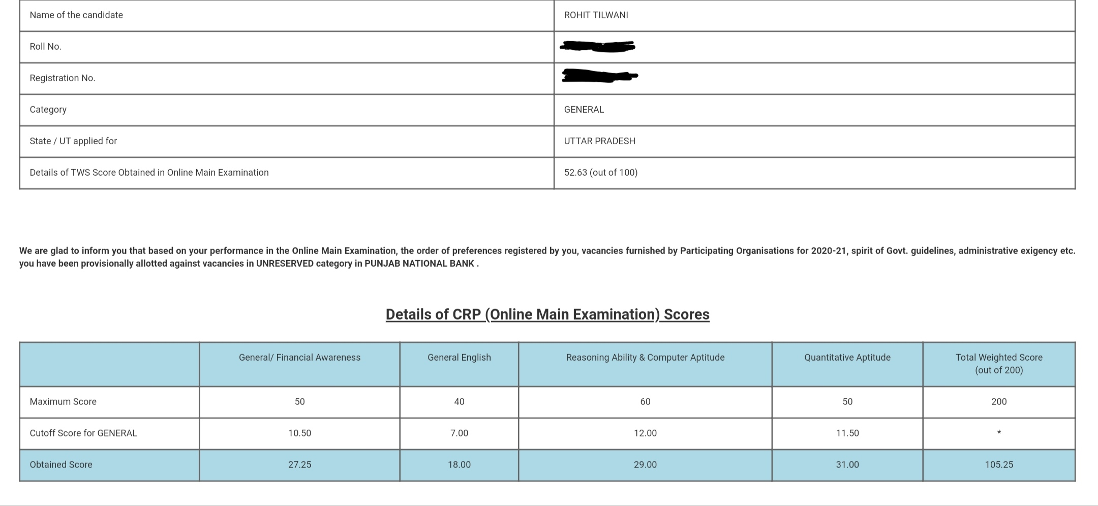 IBPS Exam Topper