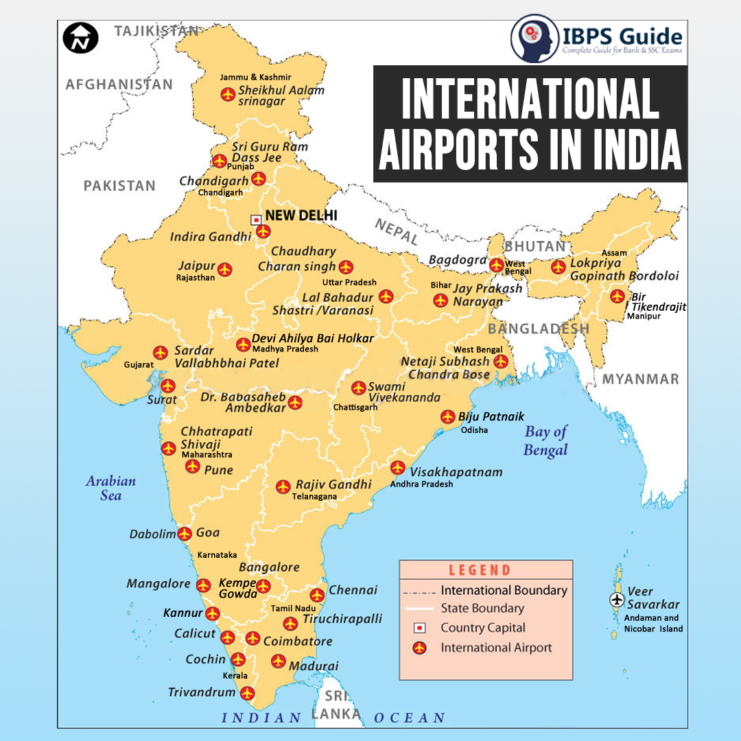 International Airports In India Complete List And A Tricks To Remember