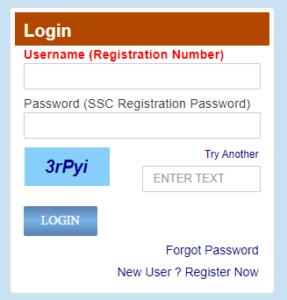 login page ssc chsl