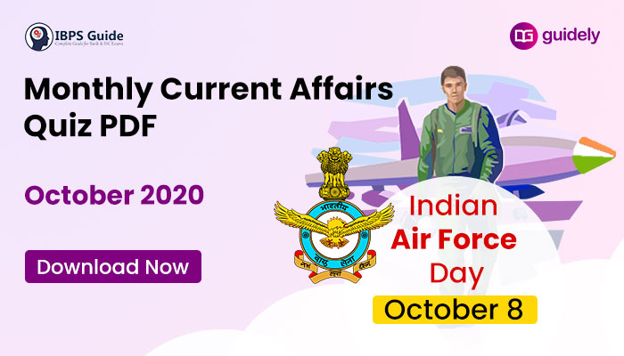 Monthly Current Affairs Questions October 2020 – Download in PDF