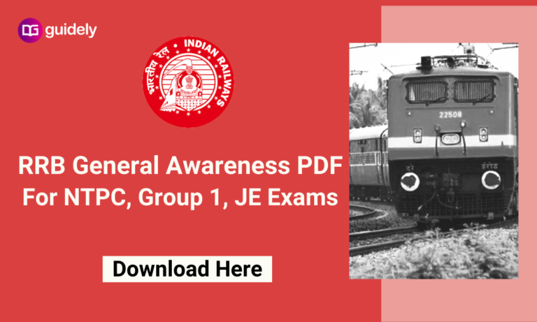 RRB General Awareness PDF: Check Important General Awareness Question PDF